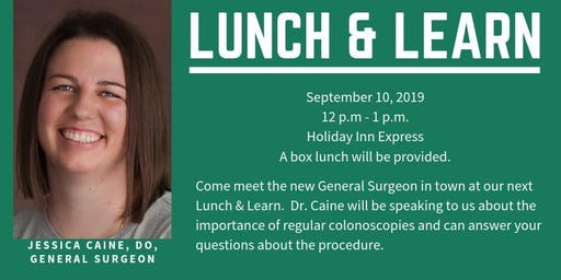 Northeast Regional Medical Center Lunch & Learn with Dr. Jessica Caine