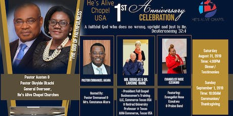 He's Alive Capel USA 1st Anniversary Celebration tickets
