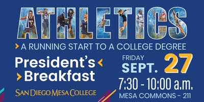 Fall 2019 President's Breakfast - Athletics: A Running Start to a College Degree