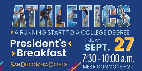 Fall 2019 President's Breakfast - Athletics: A Running Start to a College Degree tickets