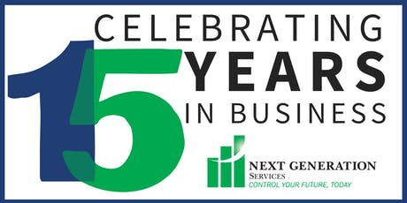 Next Generation 15th Anniversary Networking Event - Sponsorship Packages tickets