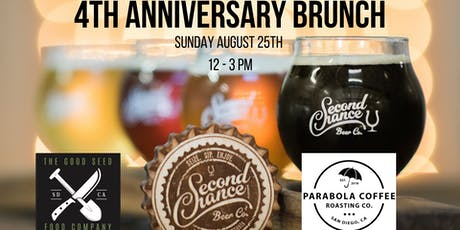 Second Chance Beer Company 4th Year Anniversary Brunch tickets
