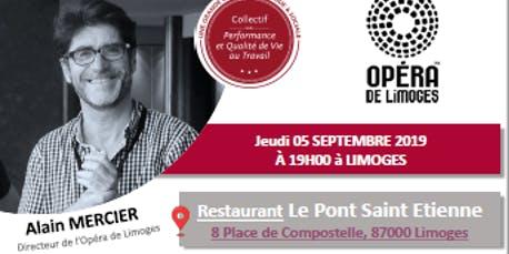 Causerie Perf et QVT avec le Directeur de l'Opéra de Limoges le 5/9/19
