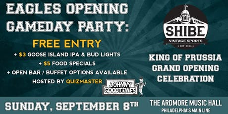 Eagles Opening Day Party: Free entry, beer/food specials, open bar & more! tickets
