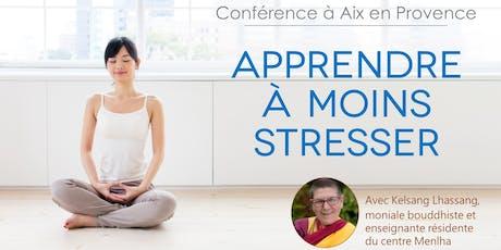 Conférence : apprendre à moins stresser billets