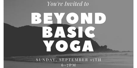 Beyond Basic Yoga tickets