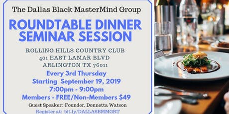 Round Table Dinner Seminar Session tickets