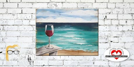 Wine Glass on Beach - Lauren's Art Club - Benefits West Volusia Humane Society tickets
