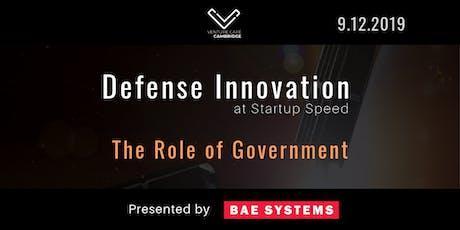 DefenseInno: The Role of Government tickets