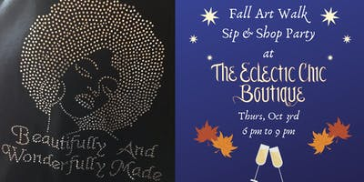 Fall Art Walk Sip & Shop Party