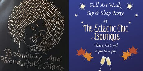 Fall Art Walk Sip & Shop Party tickets