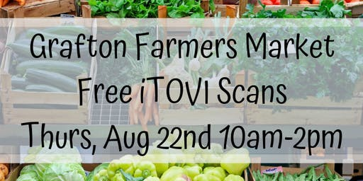 iTOVI Scans at the Grafton Farmer's Market