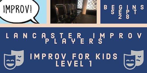 Improv For Kids Level 1!