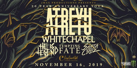 Atreyu/Whitechapel at Cargo Concert Hall tickets