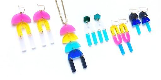 Jewelry Bar @ 9000things - Make Your Own Custom Geometric Earrings! DIY