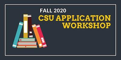 CSU Fall 2020 Application Workshop