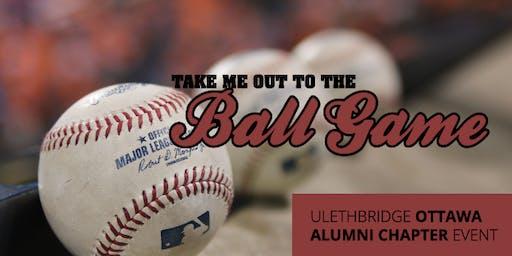 Ulethbridge Alumni Ottawa Champions Baseball Game