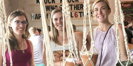 Macrame Plant Hangers - Crafts & Drafts workshop tickets