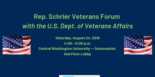 Rep. Schrier Veterans Forum with the US Department of Veterans Affairs