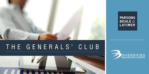 The Generals' Club Social -- November 6