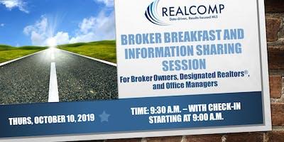 Realcomp Broker Breakfast-Thursday, October 10, 2019-check-in begins at 9:00 a.m.