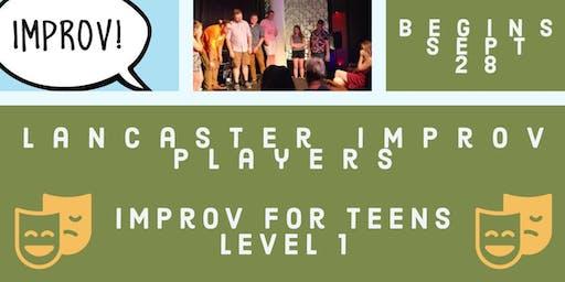 Improv For Teens Level 1!