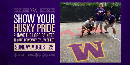 Have the UW Logo Painted in Your Driveway by the UW Cheer Team