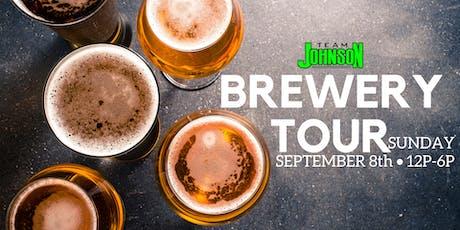 Team Johnson Brewery Tour tickets