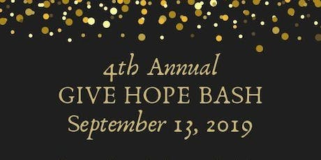 "Annual ""GIVE HOPE"" Bash 2019 tickets"