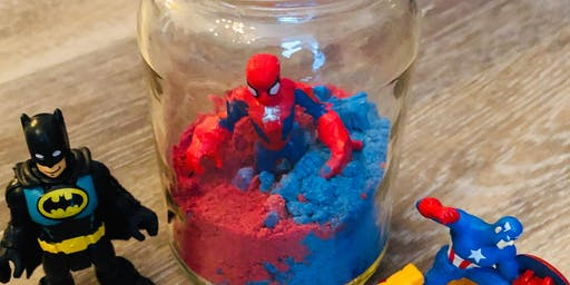 Superhero Bath Fizz Craft and Costume Day