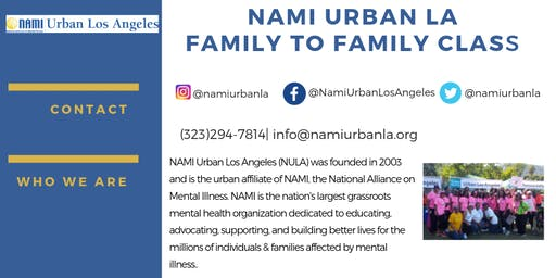 Family-to-Family Express Class NAMI Urban Los Angeles
