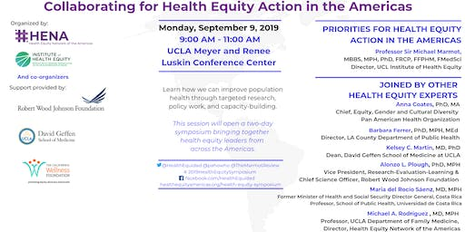 Collaborating for Health Equity Action in the Americas