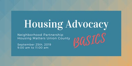 Housing Advocacy Basics  tickets