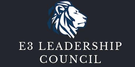 E3 Leadership Council Course tickets