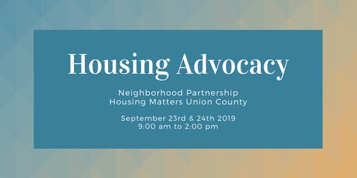 Housing Advocacy Two part Training- Sept 23rd & 24th from 9:00am - 2:00pm