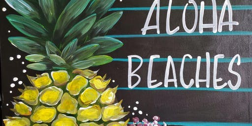 An Evening With Paintergirl~Pints & Paints~Aloha Beaches!