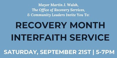 Recovery Month Interfaith Service