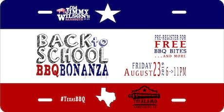 Back to School BBQ BONANZA - #TampiquitoTx boletos