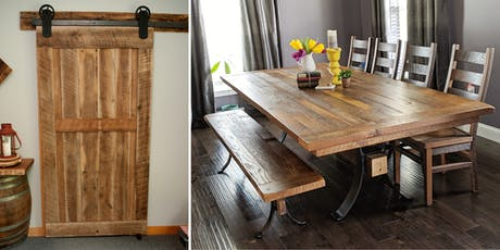 2 Events/1 Day : Custom Barn Doors, Dining Tables & Chairs tickets