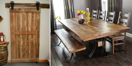 2 Events/1 Day : Custom Barn Doors, Dining Tables & Chairs