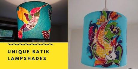 Bespoke Batik lampshade workshop tickets