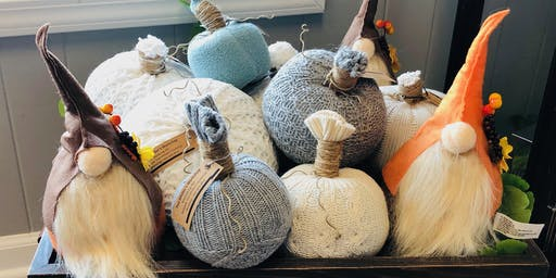 Make and Take Sweater Pumpkins