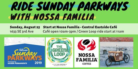 Ride Sunday Parkways with Nossa Familia Coffee + FREE Coffee! tickets