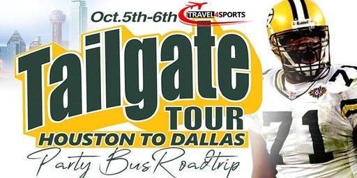 HOUSTON TO DALLAS TAILGATE TOUR:PARTY BUS ROAD TRIP HOSTED BY PACKERS LEGEND SANTANA DOTSON..