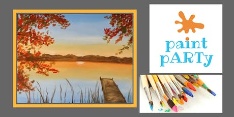 Paint'N'Sip Canvas - Fall Sunset - $35pp tickets