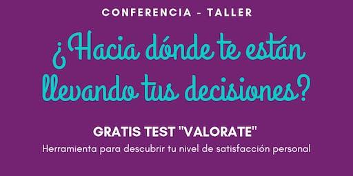 Conferencia-Taller: ¿Hacia dónde te están llevando tus decisiones?