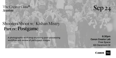 Canon Creator Lab Presents: Postgame w/ Kishan Mistry tickets
