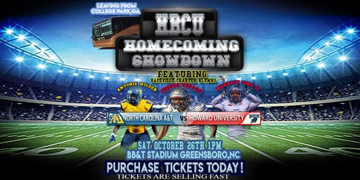 HBCU Homecoming Showdown  (BUS TRIP from College Park, Ga to North Carolina Aggies vs Howard Bisons)