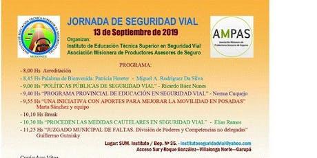 Jornada de Seguridad Vial Viernes 13 de septiembre entradas