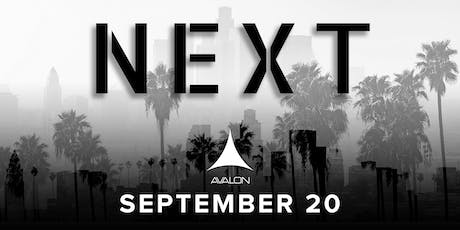Avalon Presents NEXT(Music.Fashion.Dance) tickets